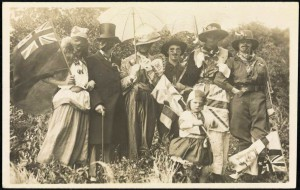 People dressed up in costumes for Australia Day celebrations, approximately 1915<br /> From National Library of Australia Commons collection on flickr.com